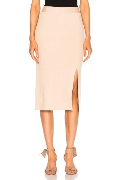 Ryan Roche Bottom Slit Fitted Skirt in Bare