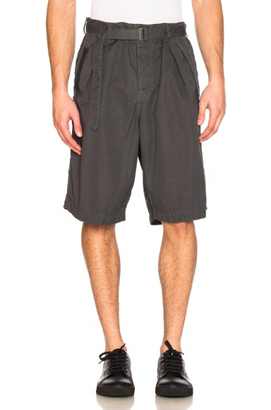 Sacai Overdyed Shorts in Grey