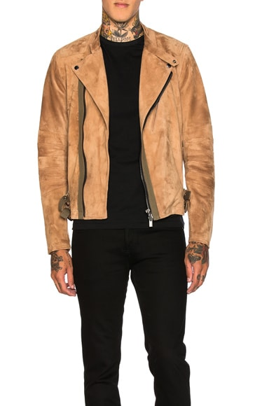 Sacai Leather Jacket in Beige
