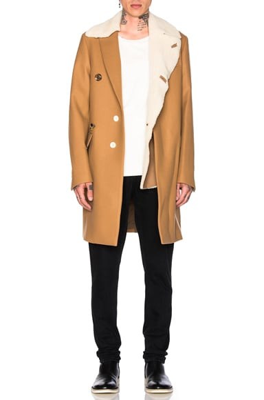 Sacai Wool Coat in Beige