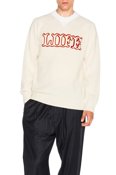 Sacai Sweatshirt in Off White