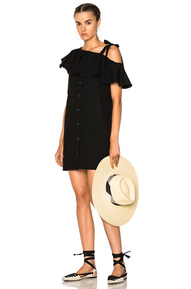 Lone Shoulder Shift Dress Sea