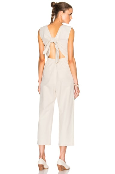 Sea Tied Back Jumpsuit in Sand