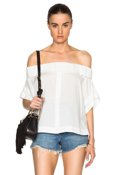 Sea Off The Shoulder Top in White