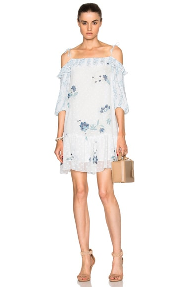 See By Chloe Off Shoulder Mini Dress in Off White