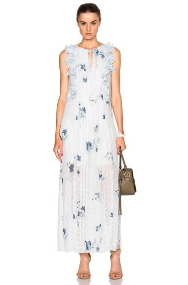 See By Chloe Ruffle Maxi Dress in Off White