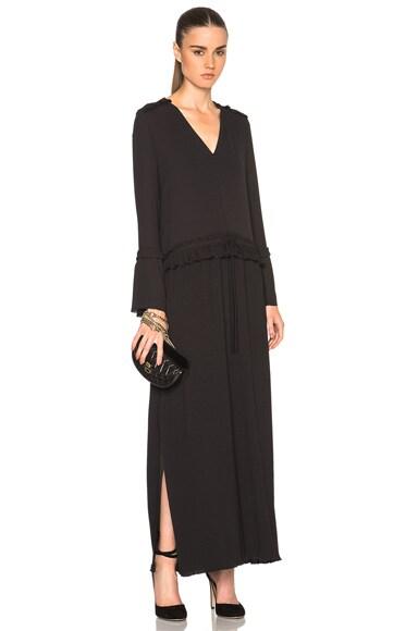 See By Chloe Drawstring Maxi Dress in Black
