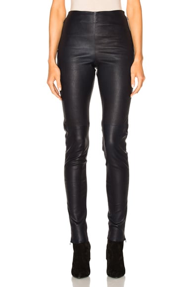 See By Chloe Skinny Leather Pants in Navy