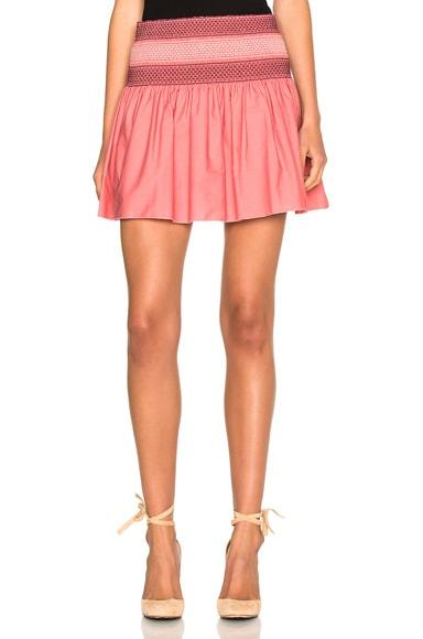 See By Chloe Mini Skirt in Desert Rose