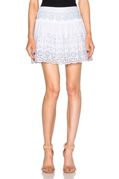 See By Chloe Eyelet Skirt in White