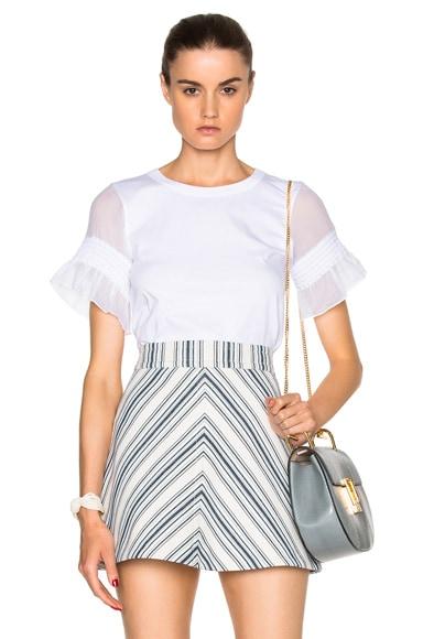 See By Chloe Ruffle Sleeve Top in White