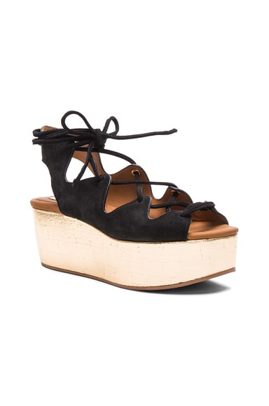 Suede Liana Wedges