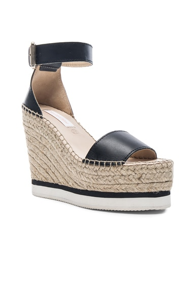 Leather Glyn Espadrille Wedges