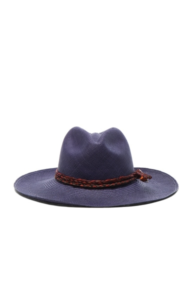 SENSI STUDIO Classic Long Brim Hat in Navy