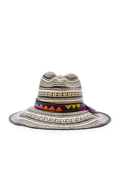SENSI STUDIO Colombia Panama Hat in Natural & Black