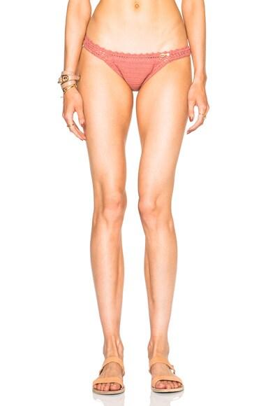 SHE MADE ME Cheeky Bikini Bottom in Rose