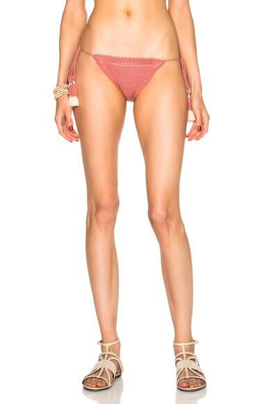SHE MADE ME Tie Side Bikini Bottom in Rose