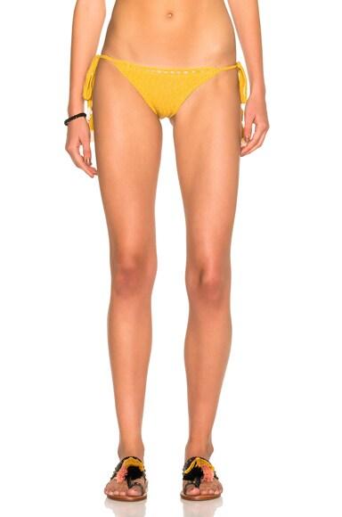 SHE MADE ME Laharia Tie Side Bikini Bottom in Marigold