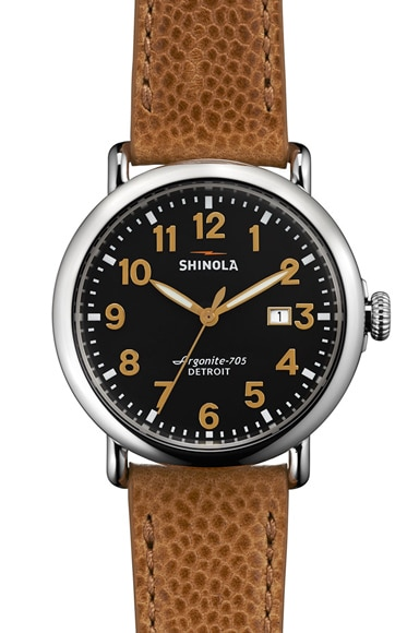 Shinola The Runwell 41mm in Tan & Black