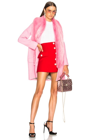 Rory Coat With Faux Fur Trim