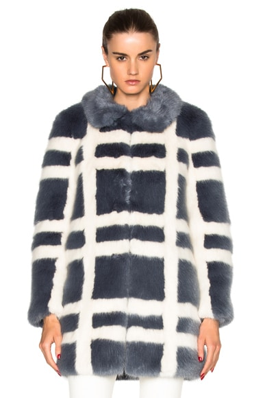 Shrimps Edith Faux Fur Coat in Flint & Cream