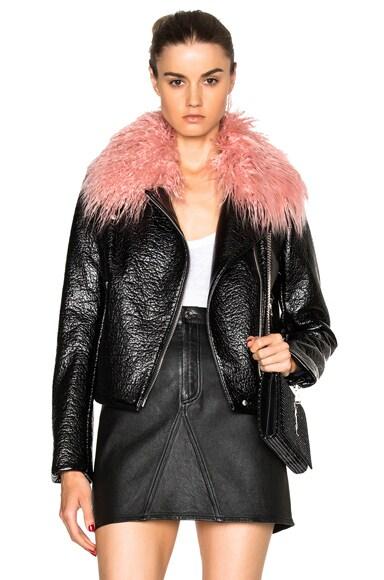 Shrimps Gigi Faux Leather Jacket in Black