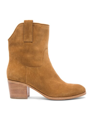 Sigerson Morrison Kimmy Suede Boots in Caramel