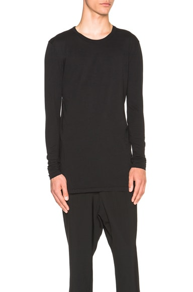 SILENT DAMIR DOMA Tityos Long Sleeve Tee in Ashes