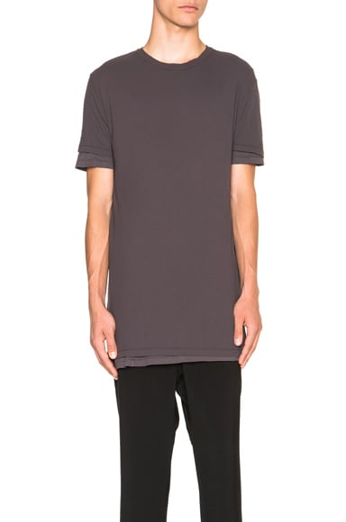 SILENT DAMIR DOMA Layered Basic Tee in Ashes