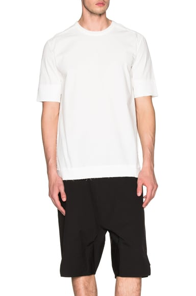 SILENT DAMIR DOMA Tayge Poplin Tee in Off White