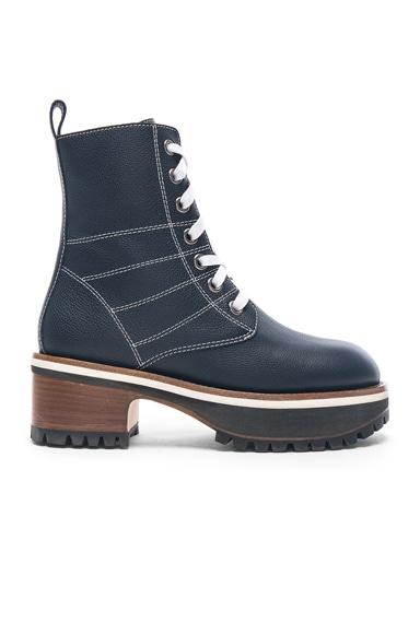 Leather Jessa Combat Boots