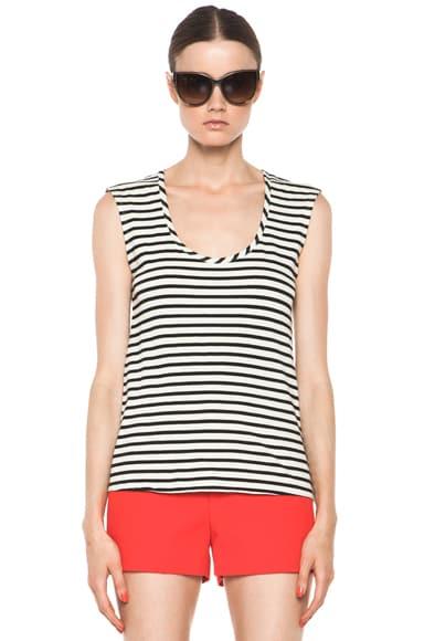 Striped Hem Top