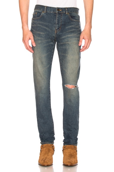 Low Rise Destroyed Skinny Jeans