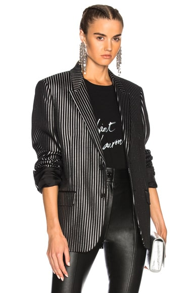 Striped Tuxedo Jacket