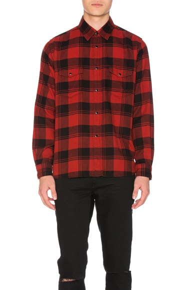 Double Front Patch Pocket Plaid Shirt