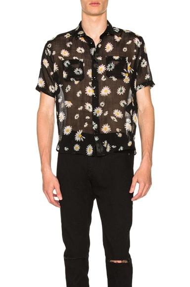 Short Sleeve Daisy Print Shirt