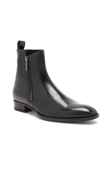 Leather Wyatt Zip Boots