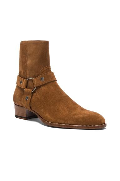 Wyatt Suede Harness Boots