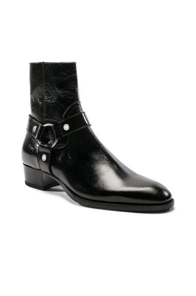 Leather Wyatt Harness Boots