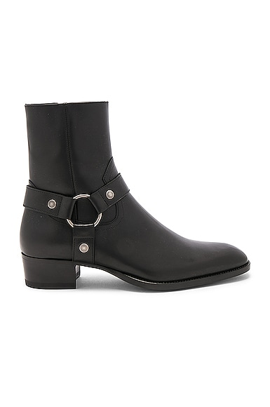 Leather Wyatt Harness Boots