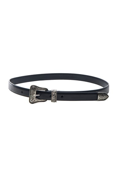 Saint Laurent Western Belt in Black
