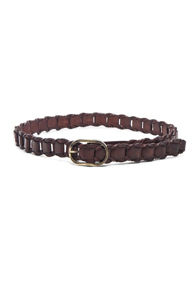 Saint Laurent Oval Belt in Brown Vintage
