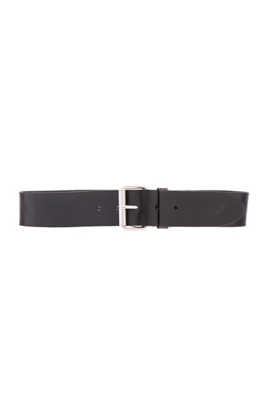 Saint Laurent Motorcycle Chunky Belt in Black