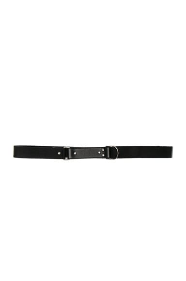 Saint Laurent Oval Monogramme Belt in Black & Black