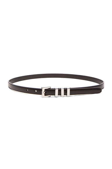 Saint Laurent Trois Passants Belt in Black