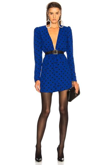 Polka Dot Plunging Mini Dress