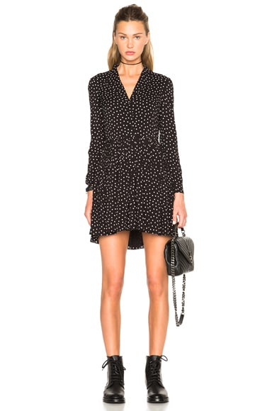 Bicolor Dot Shirt Dress