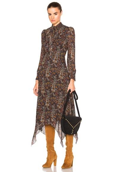 Saint Laurent Paisley Vintage Long Dress in Multi