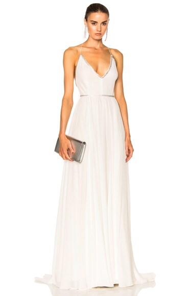 Saint Laurent Georgette Dress in Shell