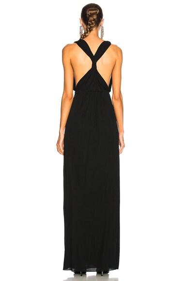 Jersey Mousseline Maxi Dress
